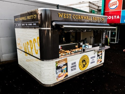 West Cornwall Pasty Kiosk Vinyl Wrap