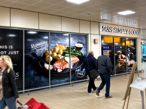M&S Simply Food Signage & Installation Glasgow Airport