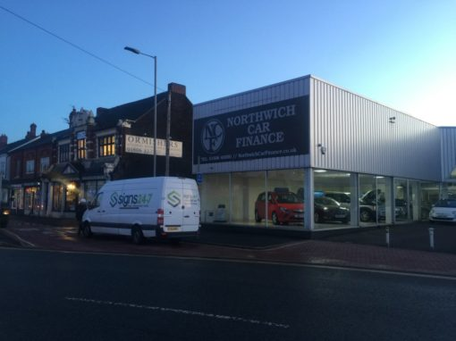 Northwich Car Finance Sign Installation