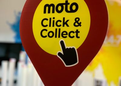 Costa Click & Collect Hanging Sign
