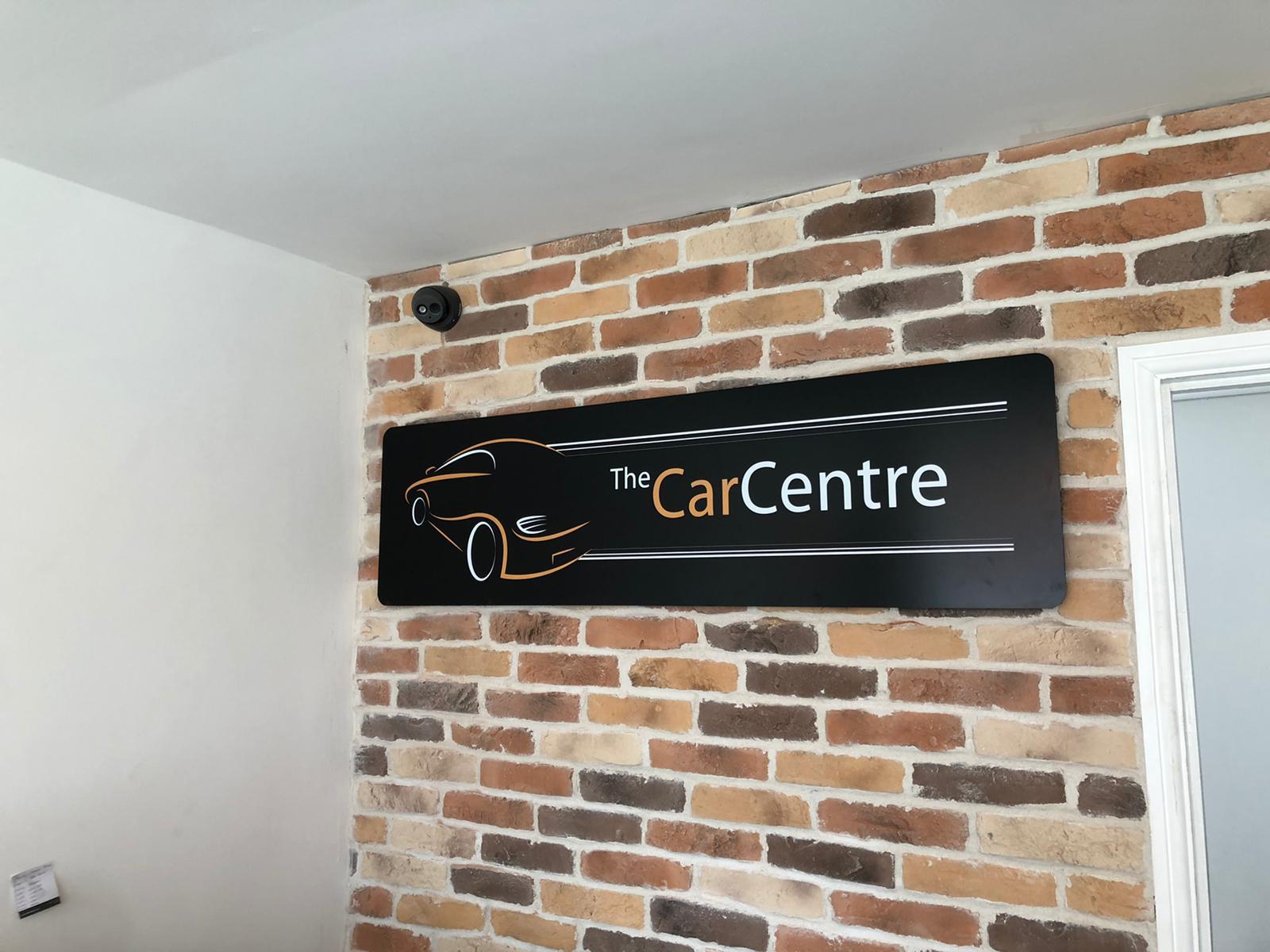 The Car Centre Interior Signage