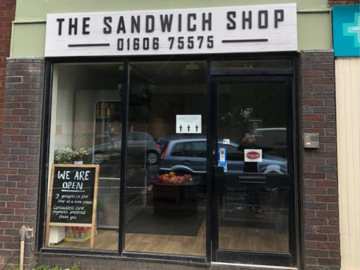 The Sandwich Shop Signage