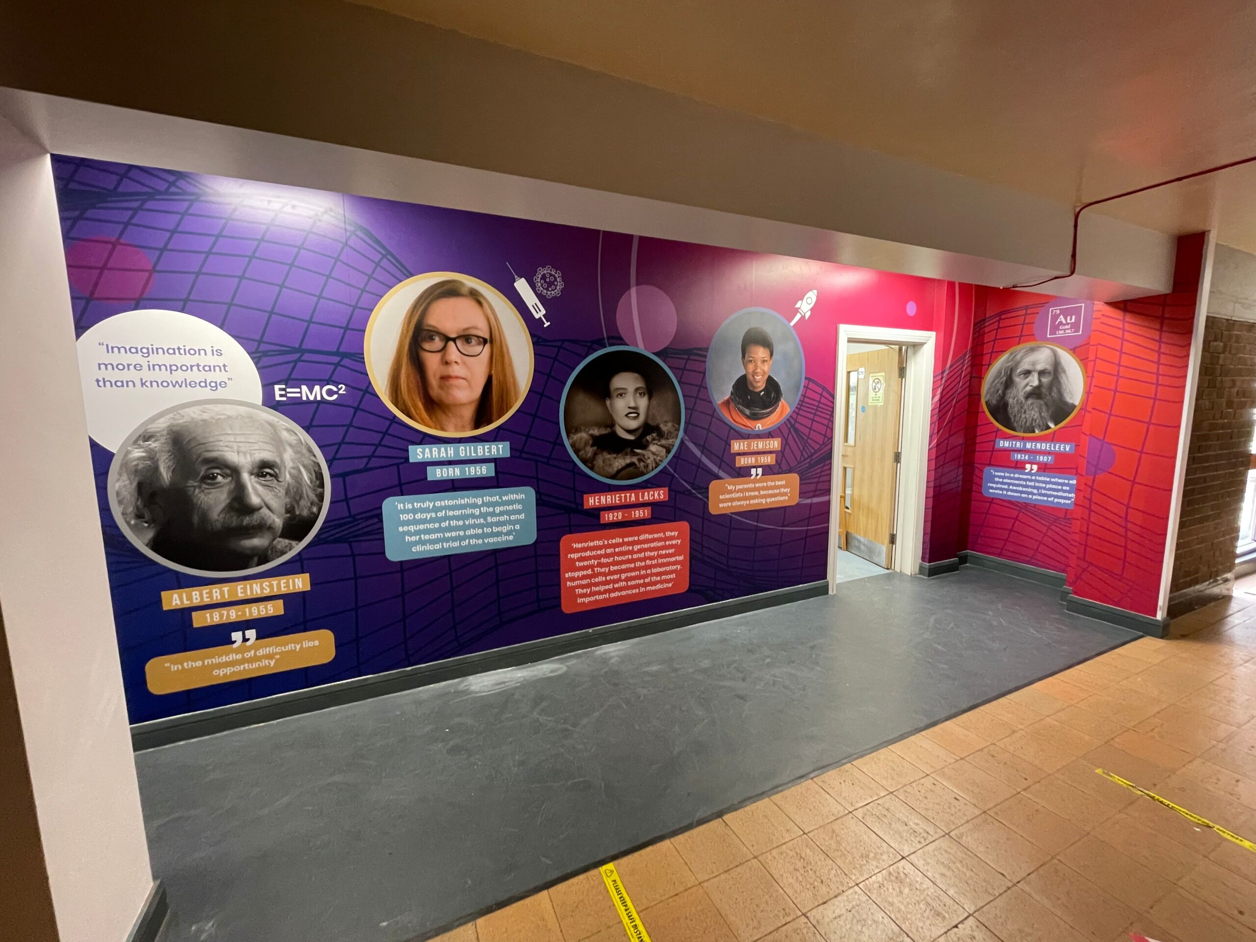 Helsby Scientists School Wall Graphic