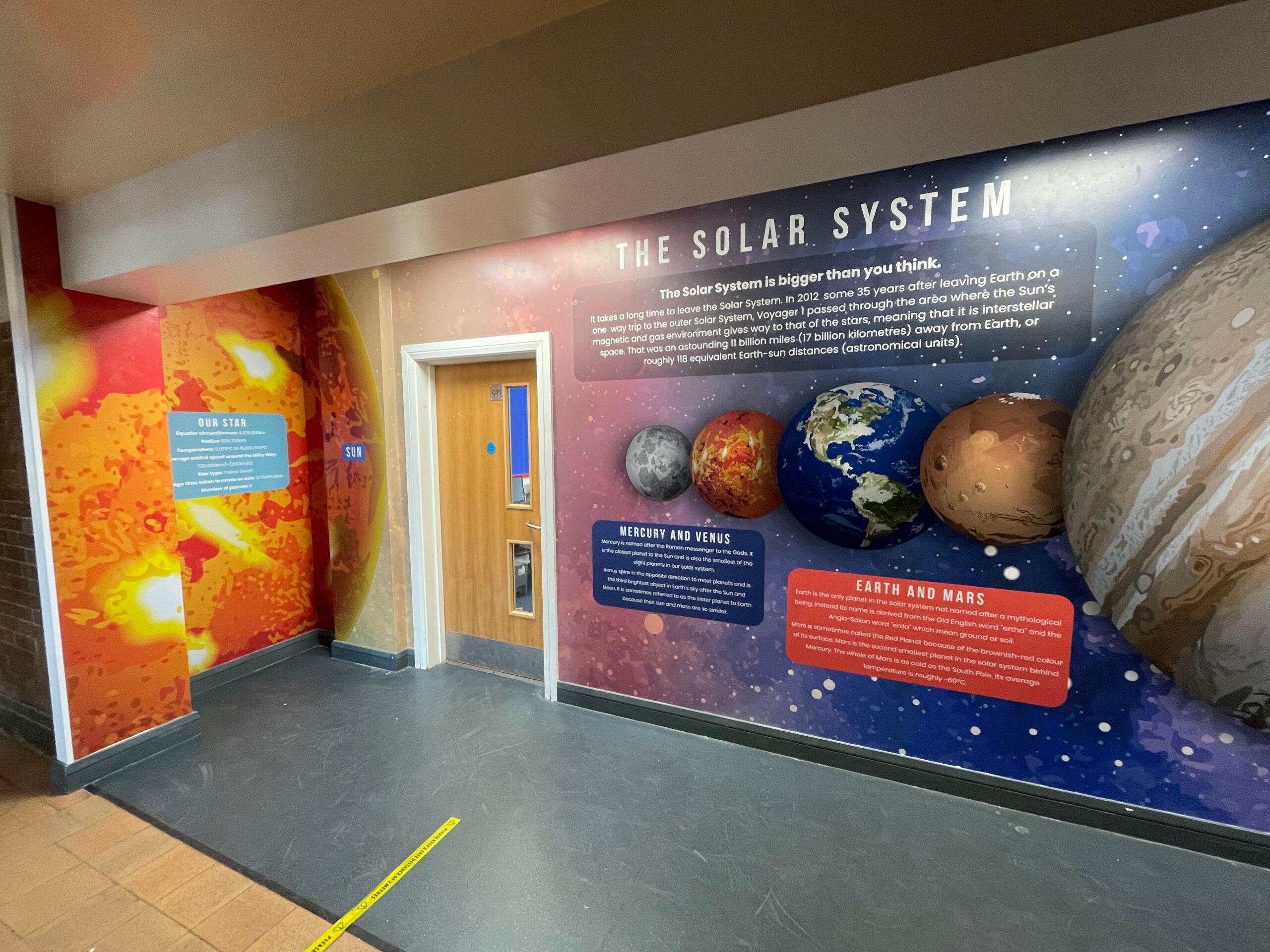 Solar Sytem School Wall Art Graphic Vinyl