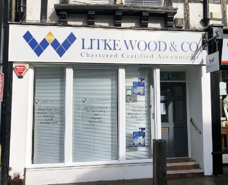 Litke Wood & Co Shop Front Signage