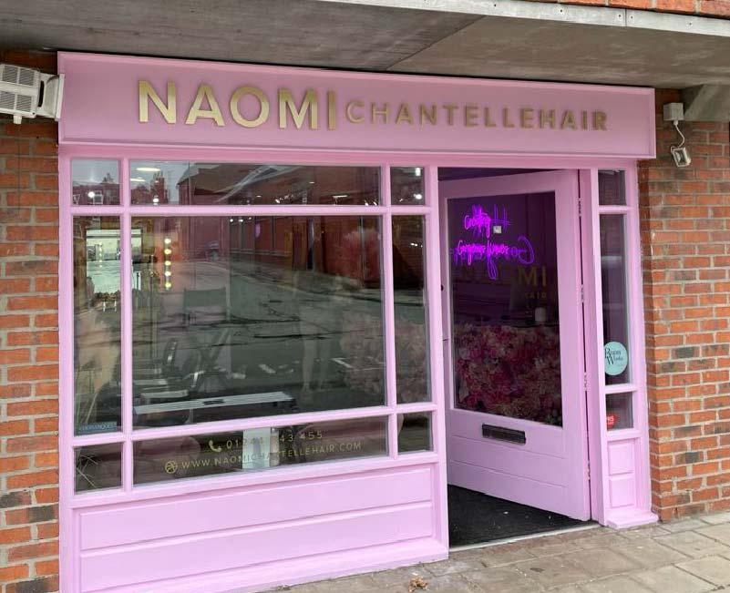 Naomi Chantelle Hair Shop Front Sign