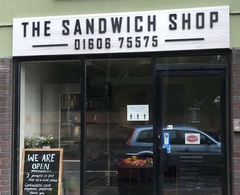 The Sandwich Shop Fascia